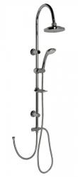 AQUALINE - ZIGA sprchový stĺp k napojeniu na batériu, chróm (SL322)