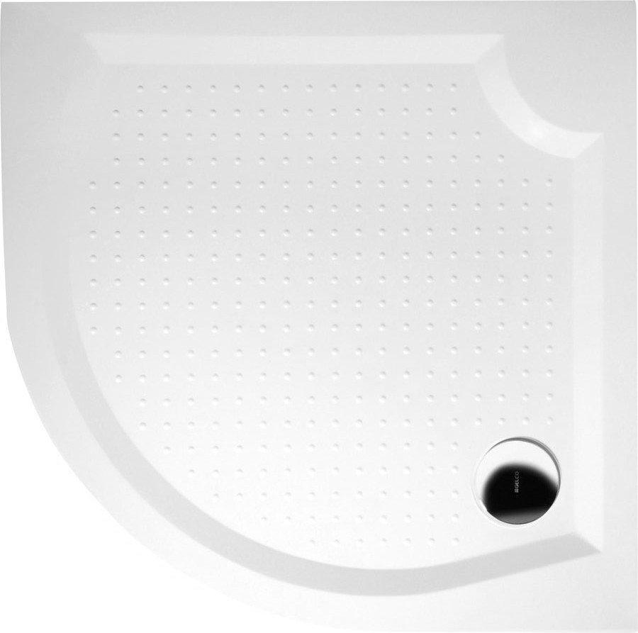 GELCO - VIVA80 sprchová vanička z liateho mramoru, štvrťkruh, 80x80x4cm, R550 (GV558)