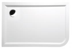 POLYSAN - STYX L sprchová vanička z liateho mramoru, obdĺžnik 120x80x4cm, ľavá, biela (66611)