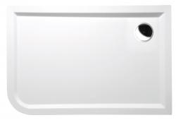 POLYSAN - STYX R sprchová vanička z liateho mramoru, obdĺžnik 120x80x4cm, pravá, biela (68611)