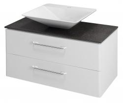 SAPHO - PURA umývadlová skrinka pre Rockstone dosku 96,6x50,5x48,5cm, biela (PR101K)