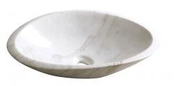 SAPHO - BLOK 16 kamenné umývadlo 58x14x38cm, biely mramor, leštený (2401-22)