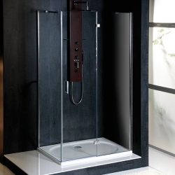 POLYSAN - VITRA LINE sprchová zástena, obdĺžnik 800x700mm, pravá, číre sklo (BN7015R)