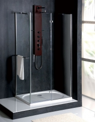 POLYSAN - VITRA LINE sprchová zástena, obdĺžnik 800x700mm, pravá, číre sklo (BN7015R), fotografie 6/5