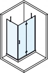 POLYSAN - VITRA LINE sprchová zástena, obdĺžnik 800x700mm, pravá, číre sklo (BN7015R), fotografie 4/5