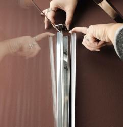 POLYSAN - VITRA LINE sprchová zástena, obdĺžnik 800x700mm, pravá, číre sklo (BN7015R), fotografie 2/5