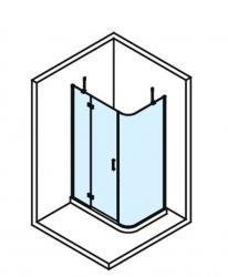 POLYSAN - VITRA LINE sprchová zástena, obdĺžnik, zaoblený roh 1200x800mm, ľavá, číre sklo (BN2315L), fotografie 6/4