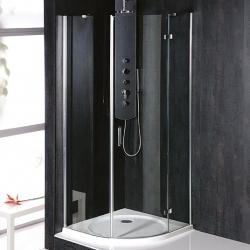 POLYSAN - VITRA LINE zástena, štvrťkruh 800x800mm, R550, pravá, oválne panty, číre sklo (BN2518R)