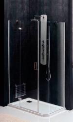 POLYSAN - VITRA LINE zástena, obdĺžnik zaoblený roh 1200x800mm,ľavá,oválne panty,číre sklo (BN2318L), fotografie 8/5