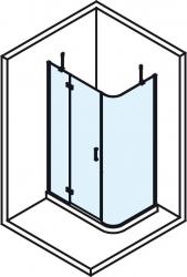 POLYSAN - VITRA LINE zástena, obdĺžnik zaoblený roh 1200x800mm,ľavá,oválne panty,číre sklo (BN2318L), fotografie 2/5