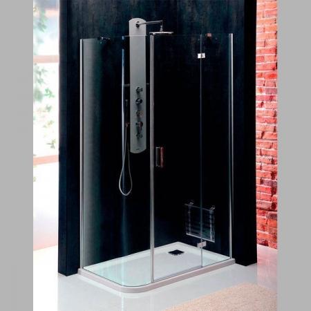 POLYSAN - VITRA LINE sprch.zástena,obdĺžnik zaobl.roh1200x800mm,pravá,ovál.panty,číre sklo (BN2318R)
