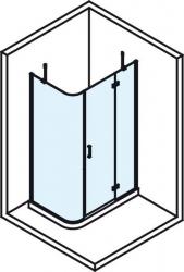 POLYSAN - VITRA LINE sprch.zástena,obdĺžnik zaobl.roh1200x800mm,pravá,ovál.panty,číre sklo (BN2318R), fotografie 6/4