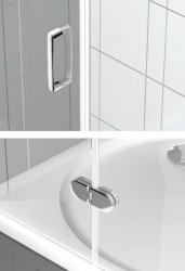 POLYSAN - VITRA LINE sprch.zástena,obdĺžnik zaobl.roh1200x800mm,pravá,ovál.panty,číre sklo (BN2318R), fotografie 8/4