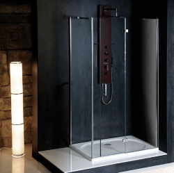 POLYSAN - VITRA LINE zástena bez držiaku osušky, obdĺžnik 1400x900mm, prava, číre sklo (BN0815R)