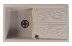 SAPHO - Granitový zabudovateľný drez s odkvapom 86,2x50 cm, béžová (GR1802)