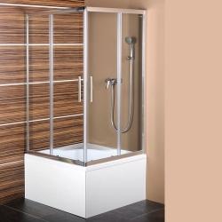 POLYSAN - CARMEN štvorcová sprchová zástena 900x900x1500mm, číre sklo (MD5115)