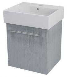 SAPHO - NATY umývadlová skrinka 46,5x50x40cm, dub strieborný (NA053)