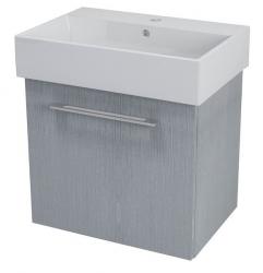 SAPHO - NATY umývadlová skrinka 56,5x50x40cm, dub strieborný (NA063)