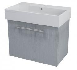 SAPHO - NATY umývadlová skrinka 66,5x50x40cm,dub strieborný (NA073)