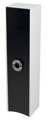SAPHO - AVEO skrinka vysoká 35x140x30cm, ľavá, biela/čierna (AV148)