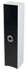 SAPHO - AVEO skrinka vysoká 35x140x30cm, pravá, biela/čierna (AV149)