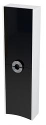SAPHO - AVEO skrinka vysoká 40x140x20cm, ľavá, biela/čierna (AV146)