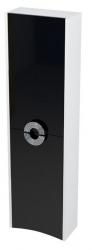 SAPHO - AVEO skrinka vysoká 40x140x20cm, pravá, biela/čierna (AV147)