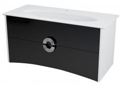 SAPHO - AVEO umývadlová skrinka 114x58x49cm, biela/čierna (AV120)
