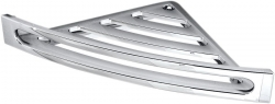 SAPHO - Rohová polica s hrazdou, 226x226 mm, ABS/chróm (CP002)