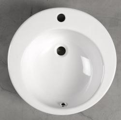 AQUALINE - BROOK Keramické umývadlo priemer 50cm, na dosku (FS16A), fotografie 2/2