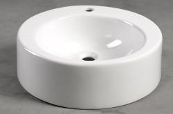 AQUALINE - BROOK Keramické umývadlo priemer 50cm, na dosku (FS16A), fotografie 4/2