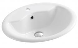 AQUALINE - Keramické umývadlo 57x47x18,5 cm, zápustné (57471)