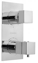 SAPHO - LATUS podomietková sprchová termostatická batéria, 3 výstupy, chróm (1102-92)