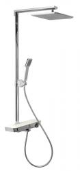 SAPHO - DUKE sprchový stĺp s batériou a poličkou (MZ139)