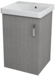 SAPHO - THEIA umývadlová skrinka 46,4x70x43,5cm, 1xdvierka, dub strieborný (TH053)