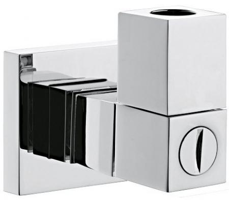 SAPHO - Rohové pripojenie 1/2 'x 3/8' s filtrom, hranatý, rýchla inštalácia, chróm (SG903)
