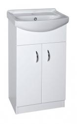 AQUALINE - EKOSET umývadlová skrinka vrátane umyvadla47x89,6x37,5cm, biela (57058)