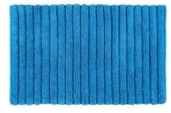AQUALINE - BOMBAY Kúpeľňová predložka, 50x80 cm, 100% bavlna, protišmyk, modrá (BO508011)