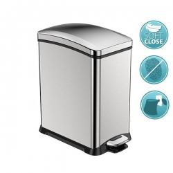 SAPHO - REJOICE odpadkový koš s pedálom 8l, Soft Close, brúsená nerez (DR508)