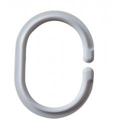 RIDDER - Krúžky na sprchový záves 12 ks, plast - C, biela (49301)
