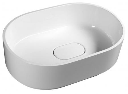 SAPHO - TAU umývadlo 62x42cm, liaty mramor, biela (TA620)