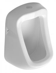 AQUALINE - KRUNO Pisoár 49,5x31cm, horné napúšťanie a spodný odpad (ID400)