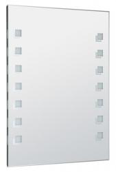 AQUALINE - LED podsvietené zrkadlo 60x80cm, gombíkový vypínač (ATH56)