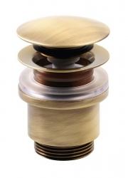 SILFRA - Uzatvárateľná guľatá výpusť pre umývadla bez prepadu Click Clack, V 10-25mm,tich (UD369S92)