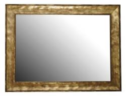 SAPHO - BERGARA zrkadlo v drevenom ráme 642x842mm, zlatá (NL526)