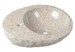 SAPHO - BLOK kamenné umývadlo 56x15x46 cm, Granite (2401-27)