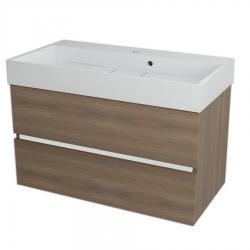 SAPHO - LARGO umývadlová skrinka 89x50x45cm, orech bruno (LA903)