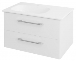 SAPHO - PURA umývadlová skrinka 77x50,5x48,5cm, ľavá, biela (PR084)