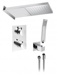 SAPHO - KIMURA podomietkový sprchový set s termostatickou batériou, 3 výstupy, chróm (KU392-01)