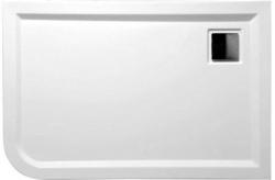 POLYSAN - LUNETA sprchová sprchová vanička akrylátová, obdĺžnik 120x80x4cm, pravá, biela (59511)